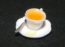 Dollhouse Miniature Cup of Tea with Lemon Chrysnbon Minis 1:12 Scale