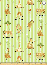 Fat Quarter Susybee Zoe the Giraffe Print Cotton Quilting Fabric