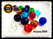 Free TOP 100pcs Glass CRYSTAL Round Pearls mixed colors Dream Loose beads 6mm