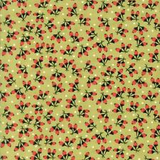 Green Fig Tree Fabric Chestnut Street Fabric Green Quilting Fabric By The 1/2 Yd