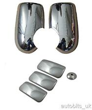 FORD TRANSIT mk6 mk7 00+ CHROME MIRROR COVERS & 3 DOOR HANDLE (042) COVERS PACK