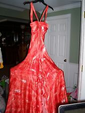 Jovani Gorgeous Silk Coral Homecoming Prom Dress Size 8