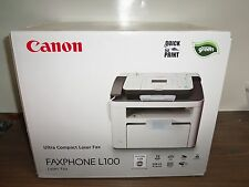 NEW Canon FAXPHONE L100 Monochrome Laser Multifunction Printer With Copier / Fax