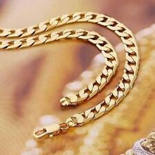 """REAL18K GOLD FILLED MENS/ LADIES UNISEX LINK CHAIN NECKLACE 24"""" MOTHERS GIFT"""