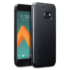 HTC 10 Case Slim Hybrid TPU Armour Flexible Gel Tech Rock Cover Matte  Black