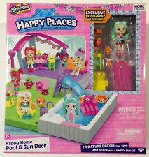 New Shopkins Happy Places Happy Home Pool & Sun Deck Playset Home Collection