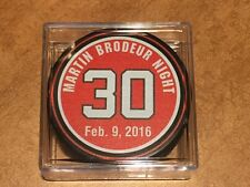 MARTIN BRODEUR NEW JERSEY DEVILS OFFICIAL RETIREMENT GAME PUCK IN CASE!!