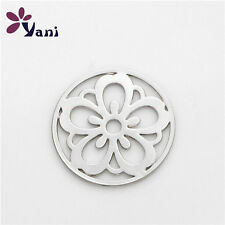 Chrysanthemum Floating Locket charm 22mm discs Round for glass Living Memory D2
