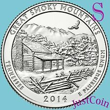 2014-S GREAT SMOKY MOUNTAINS NATIONAL PARK QUARTER UNCIRCULATED FROM MINT ROLL