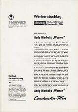 Andy Warhol's Women ORIGINAL Werberatschlag Paul Morrissey / Candy Darling