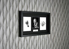 Personalized Hand Print Footprint 3D Box Frame Kit Baby Shower Gift Christening