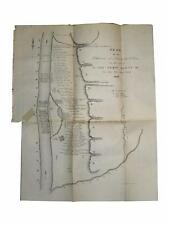 Wisconsin Territory Map Plan of the Settlement at Prairie Des Chiens