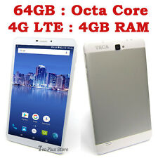 "NEUF TECA LTE850 4G OCTA CORE 4GB-RAM 64GB 7"" Full-HD ANDROID 6.1 TABLET PHONE x"