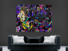 MUSIC TRAIN TRIPPY PSYCHEDELLIC HEADPHONES  ART WALL LARGE IMAGE GIANT POSTER