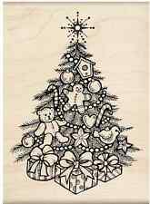 New Wood Mounted Rubber Stamp by Inkadinkado-DECORATED CHRISTMAS TREE