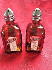 2 Pairs COINTREAU Liqueur Mini Liquor 50ml Bottles UpCycled SALT PEPPER Shakers