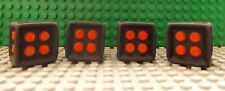 4 LEGO Dice Die Game Feature 6 Sided Rubber Frame Red Centre Studs 64776 SO46