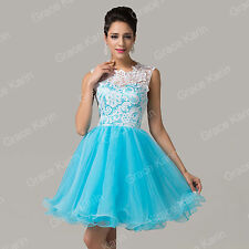 Short Teen Lace Wedding Party Prom Dress Bridesmaid Evening Cocktail Dresses