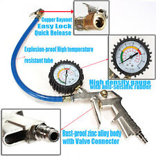 Air Compressor Tire Inflator Pressure METER Dial Gauge TOOL Car Truck 220 PSI