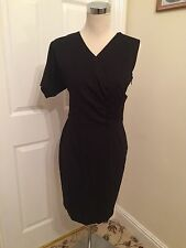 Bnwt Ted Baker Womens Structured Asymmetric Dress Black. UK Size 10. RRP £149