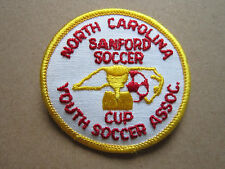 North Carolina Sanford Soccer Cup Woven Cloth Patch Badge (L1K)