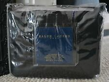 RARE RALPH LAUREN HOME BLUE LABEL BEXLEY EURO PILLOW SHAM (1) ~ BLACK