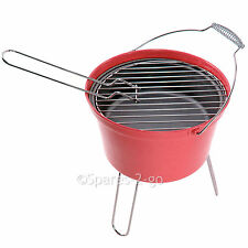 BBQ Outdoor Barbecue Bucket Portable Charcoal Camping Grill Festival Camp