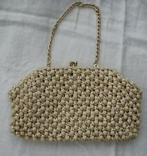 Vintage 1960s Beaded Macrame Evening Handbag Goodwood Sparkly Cruise Party