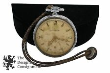 Art Nouveau Graf Zeppelin Westclox Pocket Watch Ornate Case on Braided Cord Rare