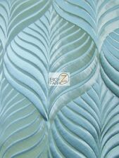 MINT LEAF UPHOLSTERY DRAPERY FABRIC - Azure - BY THE YARD SOFA CHAIRS BEDDING
