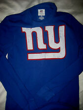 NEW YORK GIANTS FULL FRONT LOGO NFL FOOTBALL MUSCLE THERMAL JERSEY SHIRT-NICE!-M