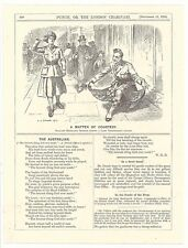 A MATTER OF COURTESY 1914 Punch Cartoon Picture First World One Scottish Curtsey