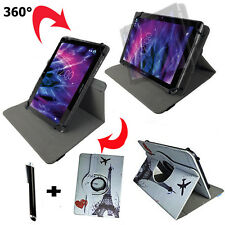 10.1 zoll Tablet Tasche - Leo Android Tablets 64 Etui Hülle - 360° Paris Motiv