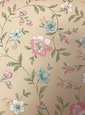 Vintage Floral Wallcovering Roses Tattersalls Made in England Cottage Wall Paper