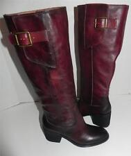 LUCKY BRAND Juneau Cordovan Rachel Red Leather Buckle Boots 6