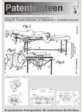 Osteopathische Behandlungsliegen, 30 Patentschriften!