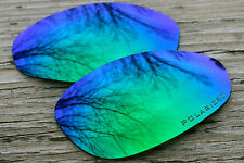 Polarized Green Blue Mirrored Sunglass Lenses for Oakley Minute 1.0- Purple Tint