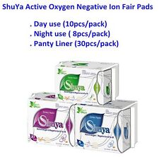 3 Packs Organic Cotton Anion Sanitary Napkin Day Use and Nigh Use, Panty Liners