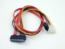 7+15 22 Pin Power/Data Sata to 4-Pin IDE Molex & Sata Port Connector Combo Cable