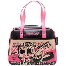 Sourpuss Burlesk Bowler Handbag Rockabilly Retro Purse Pin Up Bag Punk Horror