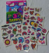 NEW 50+ 3D TATTOOS WITH 3D GLASSES PINK BUTTERFLIES SMILIES ETC SAVVI 1