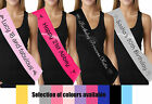Personalised birthday sash ribbon custom printed 16th 18th 21st birthday sashes