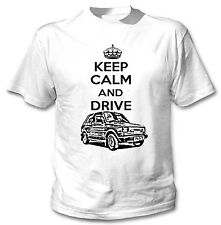 POLISH MALUCH INSPIRED KEEP CALM AND DRIVE P - WHITE COTTON TSHIRT