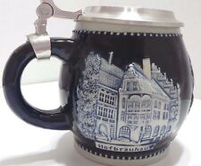 Germany Beer 3D Pictures Mug Stein Munchen Fine Pewter 95% Tin Lid