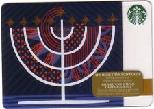 NEW STARBUCKS 2016 HOLIDAY GIFT CARD RECHARGEABLE BILINGUAL ! NICE!