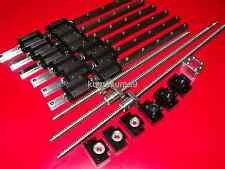ballscrew RM1605-420/990/1240mm+BK/BF12 end bearing+20mm Linear Guideway 6 Rail