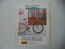 advertising Pubblicità 1989 MOUNTAIN BIKE SCOTT