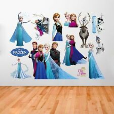 New Frozen Elsa Anna Disney Room Wall Stickers Decal Removable Home Decors Art