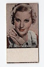 Spanish Weighing Weight Machine Card Photomaton American Actress Alice Faye