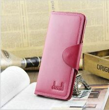 Ladies Girls Stylish Bowknot Zip Clutch Wallet Purse Coin Card Bag - Pink